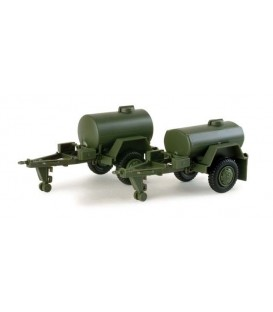 2 tank trailer. Ref: 743426. HERPA (MINITANKS). Escala:  H0