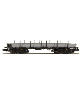 Vagón plataforma de 4 ejes Typ Rmms 665  (DB), Epoca IV. Ref: H23862. HOBBYTRAIN. N