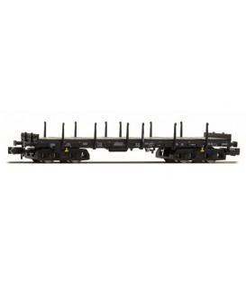 Vagón plataforma de 4 ejes Typ Rmms 663  (DB), Epoche V. Ref: H23861. HOBBYTRAIN. N