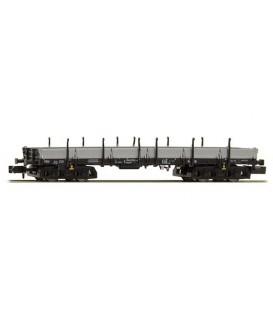 Vagón plataforma de 4 ejes Typ Rmms 665  (DB), Epoca V. Ref: H23863. HOBBYTRAIN. N