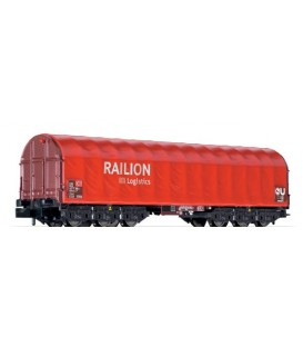 Vagón con cubierta de lona corrediza. Sahimms-u 901 Ref: L265774. LILIPUT. N