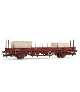 Vagón plataforma RENFE, tipo Ks, con 2 bloques de marmol. Ref: E1336. ELECTROTREN. H0
