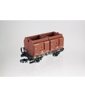 Vagón con 2 cajas de carbón DR. Ref: NME201200. Escala. N