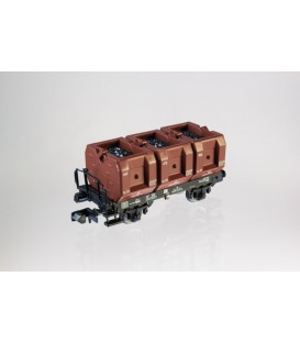 Vagón con 3 cajas de carbón DR. Ref: NME201201. Escala. N
