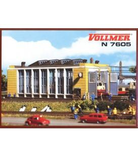 Deposito moderno para dos locomotoras. Ref: 7605. VOLLMER. Esc. N