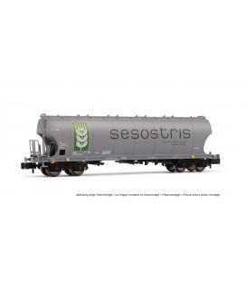 """Vagón tolva de cereales tipo Uapps """"Sesostris"""" (con logo verde) RENFE Ref: HN6298. ARNOLD. N"""