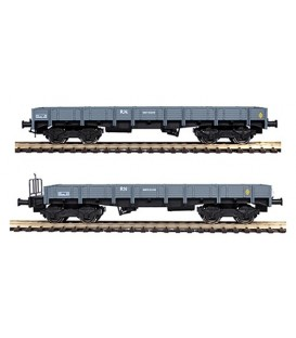 Set de 2 vagones plataforma MM (RN). Ref: 81400/2. MABAR. H0