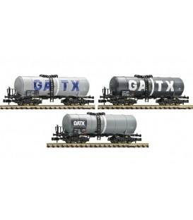Set de 3 unidades de vagón cisterna GATX, DB AG Ref: 848013 FLEISCHMANN. N
