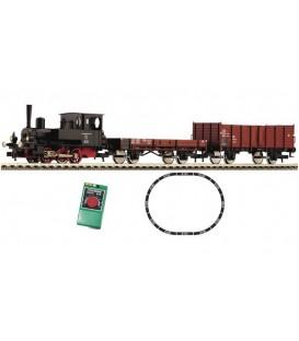 """Set de Iniciación """"Tren de mercancías"""". locomotora con sonido Ref: 633071. FLEISCHMANN. H0"""