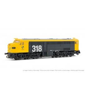 Locomotora diésel 318.009 (1809) RENFE, gris y amarillo. Ref: HN2250. ARNOLD. N