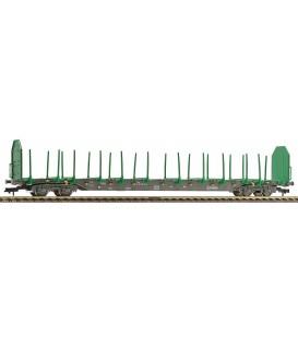 Vagón de plataforma con teleros tipo Rnoos, RENFE Ref: 525408. FLEISCHMANN . H0