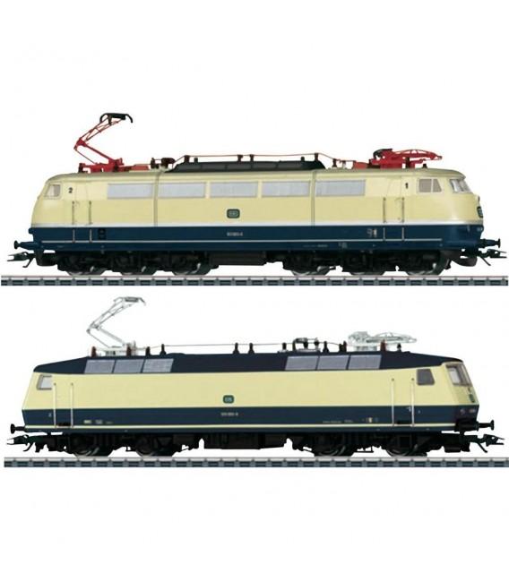 Conjunto de 2 Locomotoras eléctricas de la serie 103 y 120 de los DB, época IV. Ref: 31014. MÄRKLIN. H0