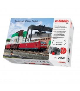 """Set de iniciación digital """"Transporte moderno mercancias DB"""". 230 voltios. Ref: 29841. MÄRKLIN. H0"""