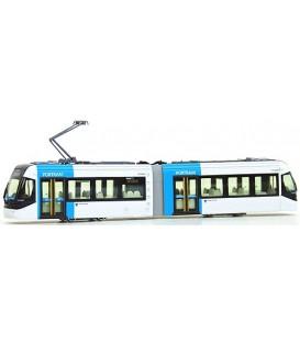 Tranvía Portram blanco-Azul. Ref: 14-801-1. KATO. N