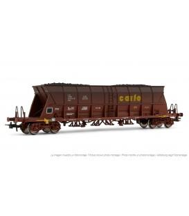 """Vagón tolva """"Carfe"""", envejecido, con carga de carbón. Ref: E5726. ELECTROTREN. H0"""
