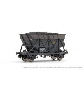 Vagón tolva 2 ejes de RENFE, con carga de carbón y envejecido. Ref: E0922. ELECTROTREN. H0