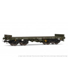 Vagón plataforma bogies verde, tipo Rmms. Ref: E5175. ELECTROTREN. H0