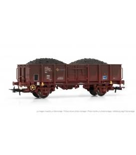 Vagón abierto RENFE, envejecido, con carga de carbón, ELECTROTREN HO Ref. E1261