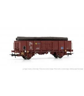 Vagón abierto RENFE, tipo Elos, Oxido cargado con troncos. ELECTROTREN HO Ref. E1263
