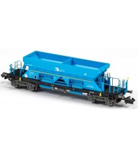 Vagón Tolva TTF Renfe Mantenimiento Infra. Azul desgastado . Ref: N34817. MFTRAIN.