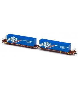 Plataforma Portacontenedores Mega Combi Transfesa . Ref: N33149. MFTRAIN. N