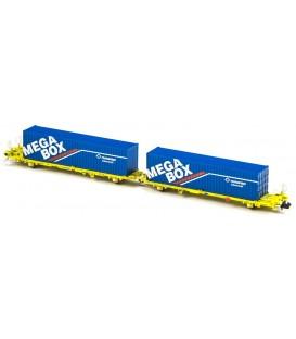 Plataforma Portacontenedores Mega Combi TRANSFESA . Ref: N33153. MFTRAIN. N
