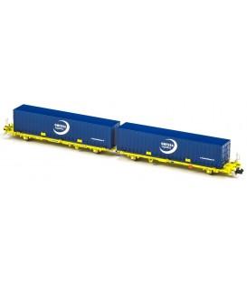 Plataforma Portacontenedores Mega Combi TRANSFESA . Ref: N33154. MFTRAIN. N