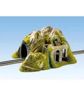 Tunel, recto, 1 carril, 34 x 26 cm. Escala H0. NOCH. Ref 02220
