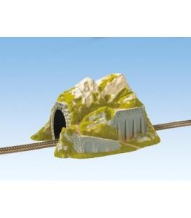 Túnel, Recto, 1 carril, 34 x 25 cm. Escala H0. NOCH. Ref 02221