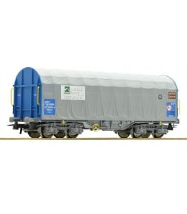 Vagón de lona corrediza, Railsider - Cargas Renfe Ref: 67315. ROCO. H0