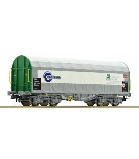 Vagón de lona corrediza, Cadefer - Cargas Renfe Ref: 67314. ROCO. H0