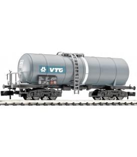 """Vagón cisterna """"VTG"""" con plataforma de frenos, RENFE.  Ref: 848026. FLEISCHMANN. N"""