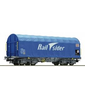Vagón de lona corrediza, RAILSIDER - Cargas Renfe Ref: 67316. ROCO. H0