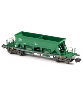 Vagón Tolva TTM Renfe Mercancias Verde . Ref: N34705. MFTRAIN. N