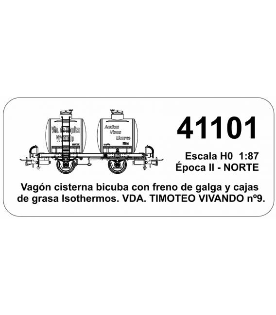 """Vagón Cisterna """"Bicuba"""" Vda. DE TIMOTEO VIVANDO Nº9 (Norte)"""