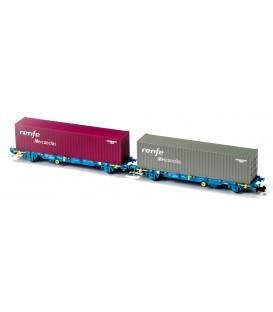 Nueva Versión Set 2 portacontenedores MC3 Renfe Mercancías Ref: N33352. MFTRAIN. N