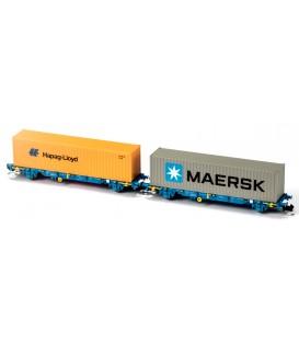 Nueva Versión Set 2 portacontenedores MC3 Renfe  Ref: N33348. MFTRAIN. N