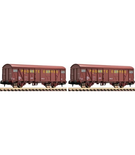"""Set de dos vagones """"PAQUETE EXPRES"""", RENFE  Ref: 831510. FLEISCHMANN. N"""