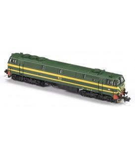 "Locomotora 3000 RENFE  ""Rambo"" Verde -Amarillo - 333.046.1 Ref: N13302. MF TRAIN. N"