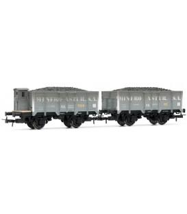 Conjunto de vagones - Serie X unificados de RENFE-, envejecidos Ref:E19008