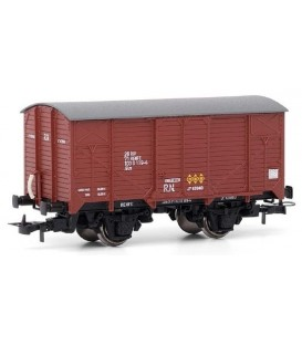 Vagón cerrado unificado de RENFE, RN.  Ref:E19015