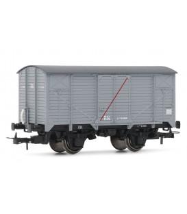 """Vagón """"J"""" Cerrado sin freno RENFE, RN.  Ref:E19027"""