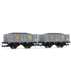 Set de 2 vagones - Serie X unificados de RENFE-, TE Ref:E19021