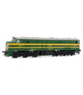 Locomotora diésel RENFE 1602 (verde y amarillo). Ref: E2413. ELECTROTREN. H0