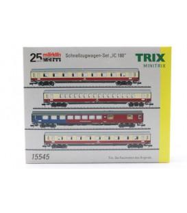 """Set de 4  coches de pasajeros """"IC180"""" DB AG. Ref: 15545. MINITRIX. N"""