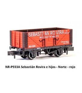 """Vagón abierto Borde alto """"SEBASTIAN ROVIRA"""" PECO Escala N"""
