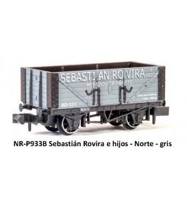 """Vagón abierto Borde alto """"SEBASTIAN ROVIRA"""" PECO P933B Escala N"""