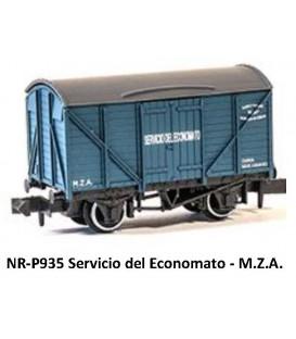 """Vagón Cerrado """"SERVICIO DE ECONOMATO"""" PECO P935 Escala N"""