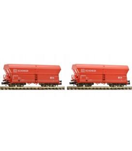 Set de 2 vagones tipo Falns 183, DB SCHENKER,  Ref. 852318 FLEISCHMANN. N