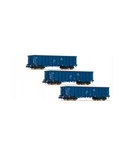 Set de tres vagones góndola, tipo Eaos, PKP Cargo Ref: 828342 FLEISCHMANN. N